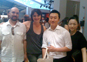 In the picture: (from left to right) Chris DeGregorio (SKN), Jennifer Stevenson (SKN), 