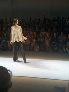 Andy and Debb Organza Top at Mercedes Benz New York Fashion Week s2009